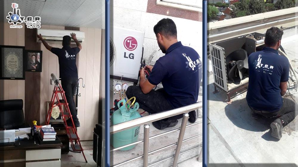 شارژ گاز کولرر گازی و تعمیر کمپرسور