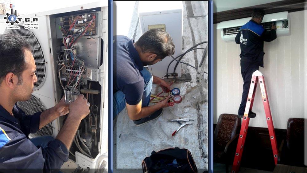 اعزام تعمیرکار کولر گازی در محل با تماس تلفنی