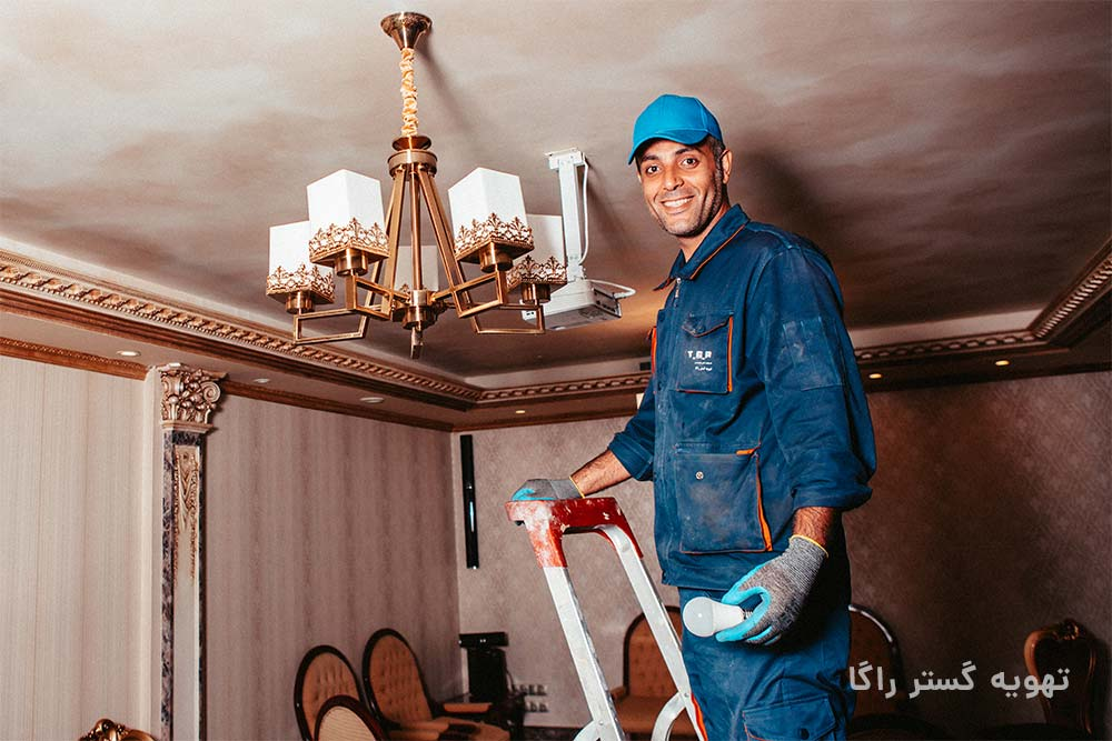سیم کشی ساختمان توسط برقکار