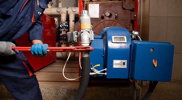 تعمیر مشعل گازی موتورخانه (+ مشعل گازوئیلی)