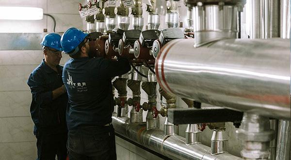 تعمیر موتورخانه : تعمیرات اجزای موتورخانه شوفاژ در تهران