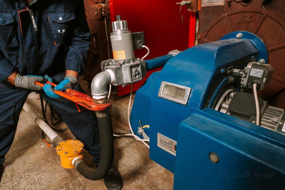 تعمیر مشعل گازی موتورخانه