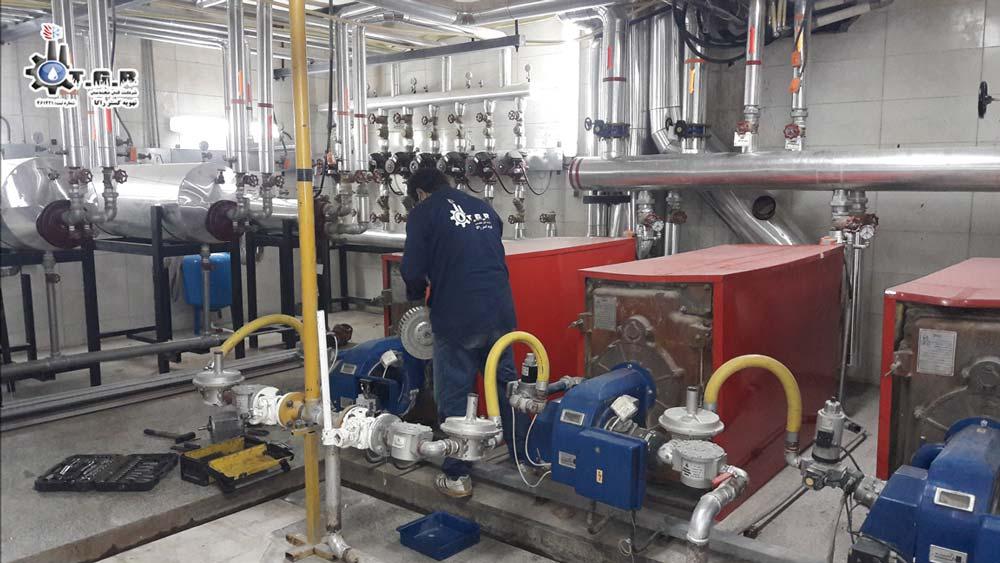 تعمیر دیگ چدنی موتورخانه : سرویس و نگهداری دیگ موتورخانه فولادی و چدنی