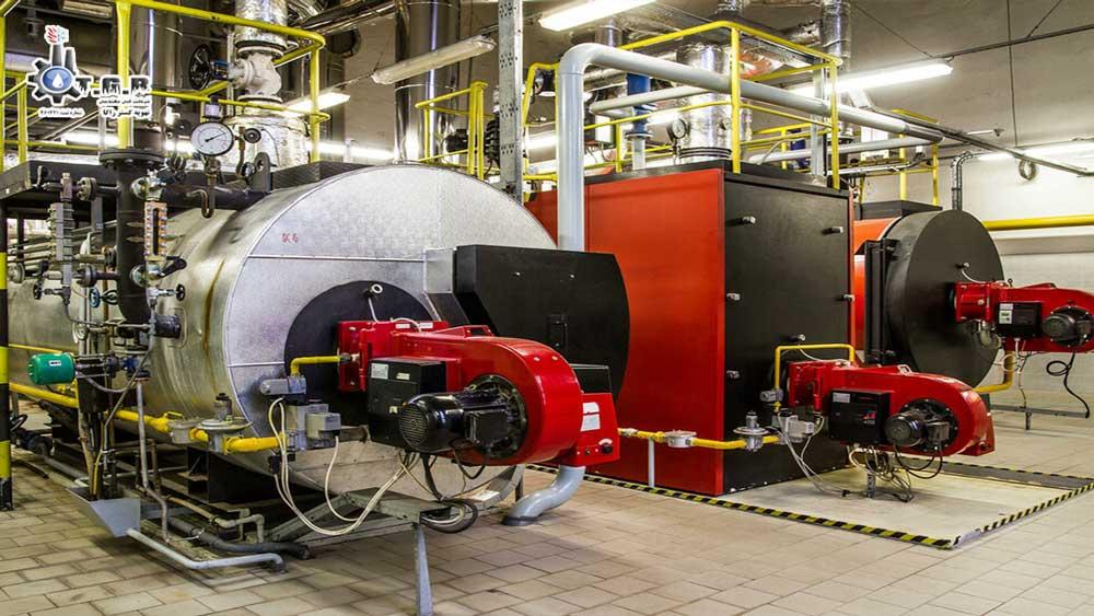تصویری از محل نصب دیگ در موتورخانه