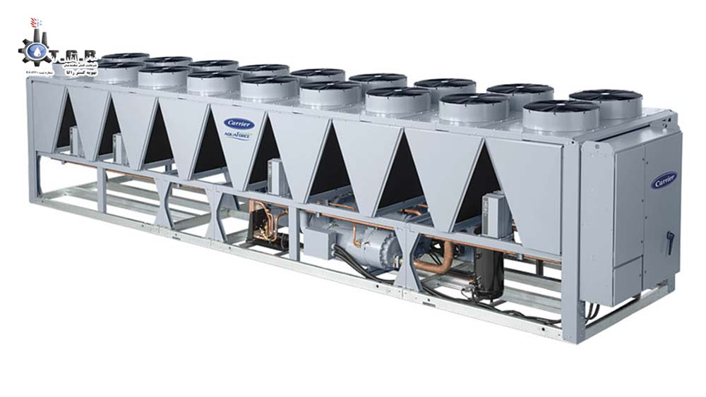 چیلر هوا خنک در تاسیسات سرمایشی موتورخانه