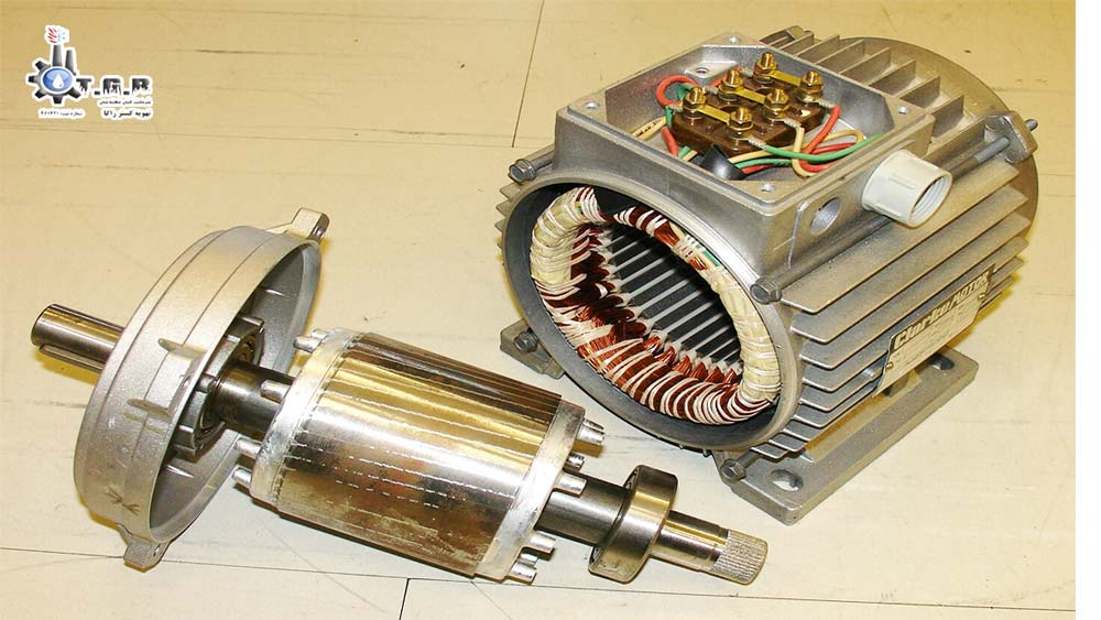 اجزای به کار رفته در الکتروموتور