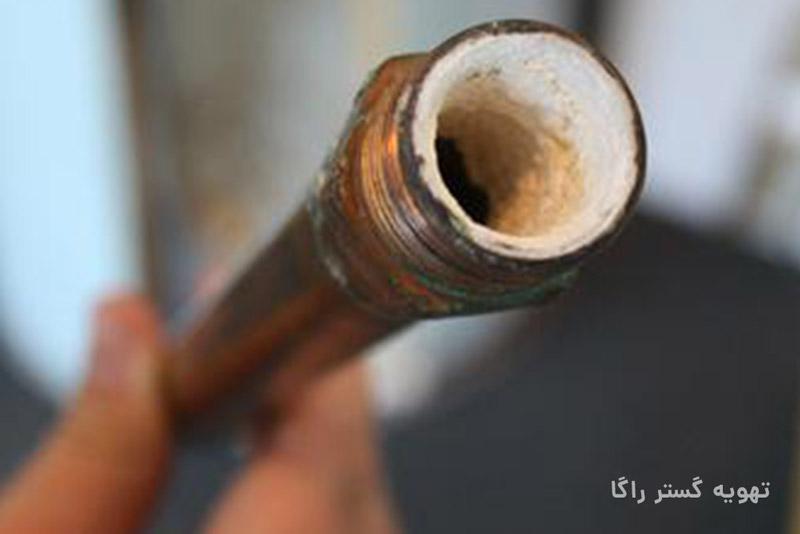 لوله رسوب بسته به دلیل عدم استفاده از سختی گیر